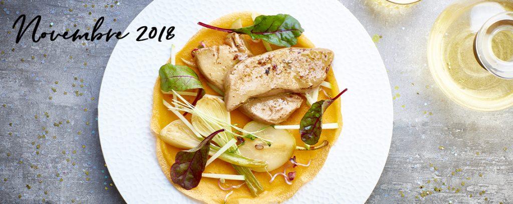 Escalopes de Foie Gras Labeyrie et crêpes à la mangue