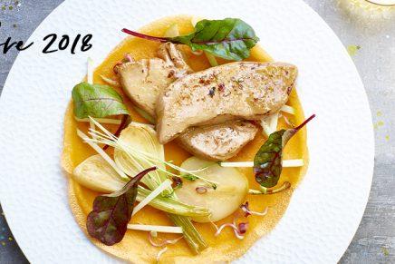 Recette : Escalopes de Foie Gras Labeyrie et crêpes à la mangue