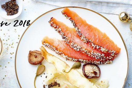 Recette : Fondant de Saumon aux graines croquantes et petits légumes