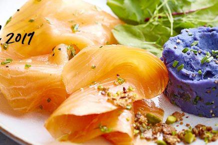 Recette : Saumon Fumé BIO et purée de pomme de terre Vitelotte