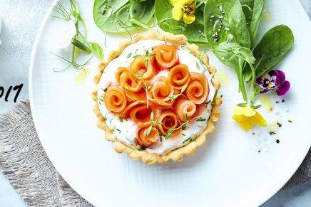 Recette : Tartelette de Saumon Fumé & chèvre frais