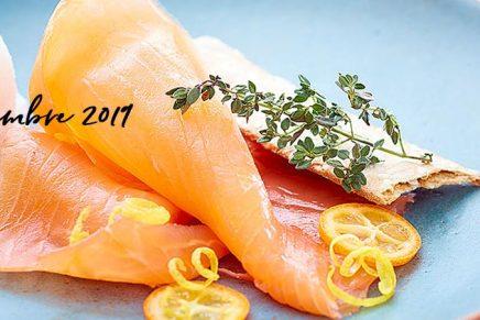 Recette : Saumon Fumé & sorbet citron acidulé